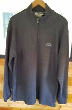 Mens Weird Fish Waffle Knit Jumper 1/4 Zip Gun Metal Grey Large Mint Condition