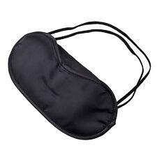 10 x Eye Mask Shade Cover Blindfold Night Sleeping Black AD