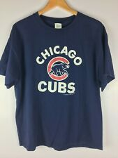 CHICAGO CUBS MLB Baseball T-shirt Blue 2005 Cotton XL