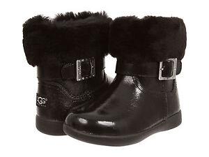 Toddler UGG Australia Gemma Patent Leather 1005149T Black 100% Authentic B. New