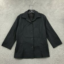 Equestrian Jacket M Medium Gray Stretch Long Sleeve Button up Collared Women NWT