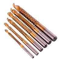 6pcs HSS High Speed Steel Titanium Coating Drill Bit Set Kit 3/4/5/6/6.5/8mm NEW