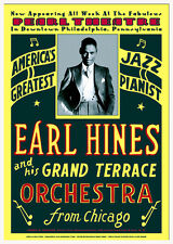 Earl Hines 1929 Pearl Theatre Philadelphia 17x24 Restoration by Dennis Loren
