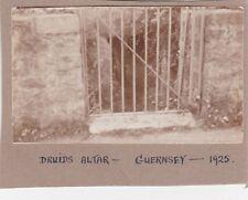 OLD VINTAGE PHOTO DRUIDS ALTAR GUERNSEY 1920S G1