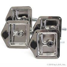 4 Trailer Door Latch T-Handle Lock Stainless Steel Keys Camper RV Truck Toolbox