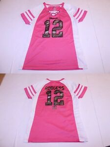 Women's Green Bay Packers Aaron Rodgers S Jersey (Pink) Majestic Jersey