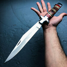 "18"" GIANT FOLDING POCKET KNIFE Wood Camping Hunting Lockback Skinner Bowie"