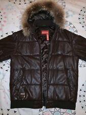 Doudoune cuir agneau ROCAWEAR Lambskin Leather XL XXL brown marron double goose