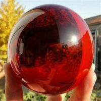 Big Asian Rare Natural Quartz Red Magic Crystal Healing Ball Sphere 40mm + Stand