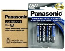 48 Wholesale Bulk Lot Panasonic Aa Double A Batteries heavy Duty 1.5v Battery