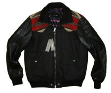 DIESEL L-PADH LEATHER SLEEVES JACKET SIZE M 100% AUTHENTIC