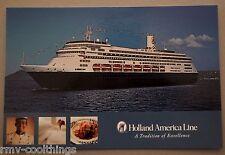 POST CARD HOLLAND AMERICA ZAANDAM CRUISE SHIP MAIL POSTAL 2005 HAL 30702234 NM