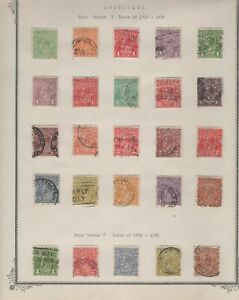 LOT OF 25 AUSTRALIA KING GEORGE V STAMPS - 1913 TO 1936 - USED HINGE MOUNTED