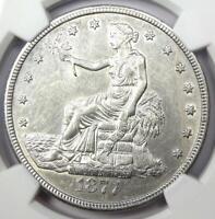 1877-CC Trade Silver Dollar T$1 - NGC AU Details - Rare Carson City Coin!
