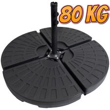 More details for 4 x banana parasol base weight cantilever hanging fan style parasol weight 80kg