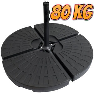 4 X Banana Parasol Base Weight Cantilever Hanging Fan Style Parasol Weight 80kg
