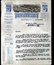 """LA PLAINE-SAINT-DENIS (93) USINE de BASSENS (33) ARDOISE, ISOLANT """"EVERITE"""" 1925"""
