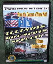 "20242 TRAIN VIDEO DVD BOX SET ""ILLINOIS HOT SPOTS SPECIAL"""