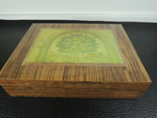 Art Deco Marquetry Hand-Made-Wooden-Lacquere d-Jewelry-Box-Austria