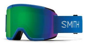 Ski Snowboard Goggles Smith Optics SQUAD Imperial Blue inc Spare lens Yellow