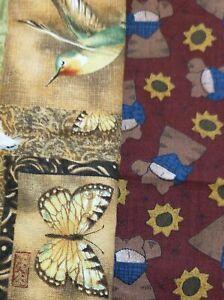 3 yds (2 pcs) - Cotton Fabric-Susan Winget -Cheri for SSI Butterflies Flowers