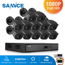 Sannce Cctv Camera Security System Home 16Ch Dvr 1080P 2Mp Cameras Day Night Kit