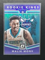 2017-18 Donruss Optic Malik Monk RC, Rookie Kings Purple, Charlotte Hornets