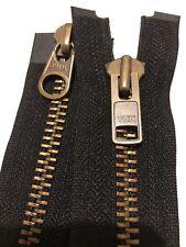 25cm-193cm OPEN END Nylon Zip Brown YKK 10-36 Inch