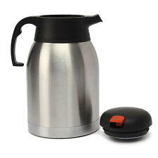 SILVER 2-LITRE  AIRPOT VACUUM FLASK STAINLESS  THERMOS JUG TEA COFFEE FLASK