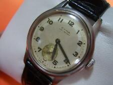 COLLECTIBLE 40'S SWISS CYMA WATERSPORT MANUAL MILITARY STYLE DIAL          *2815