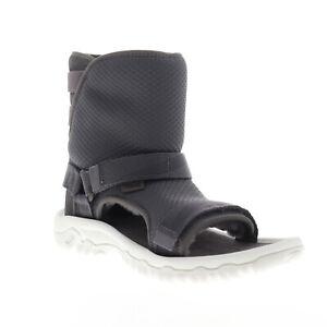 Teva Ugg Teva Collab Hybrid 1018220 Mens Gray Canvas High Top Casual Dress Boots