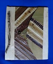 """Hand Crafted Banana Leaf Journal  Album Fold Over Cover, 7"""" x  8"""""""
