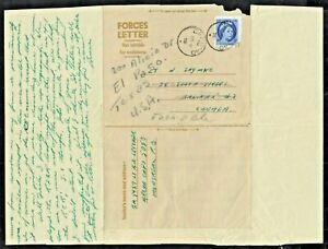 ARMED FORCES AIR LETTER 1956 5c CFPO-40 TO EL PASO, TX