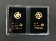 2x Deutsche Wahrzeichen in 585 Gold - Brandenburger Tor + Walhalla