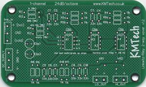 LR mono 2-way active filter by KMTech PCB DIY BALANCED/UNBALANCED INPUT