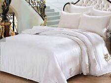 100%SILK SHEET Q-Bed*IVORY*TOP-FLATx1HiGrade19.5m*Thick+Lush*Premium*WellMade*BR