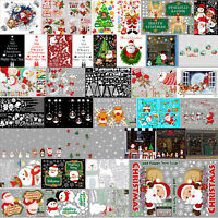 Various Christmas Xmas Removable Window Stickers Art Decal Wall Home Shop Decor