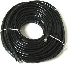 50m Network Ethernet Cable Cat5e Black External Outdoor LAN PC Router Modem RJ45
