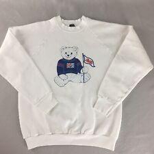 Vintage 80's Pepsi Sweatshirt Polar Bear Wearing Sweater White 50/50 Size L