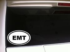 "EMT car decal vinyl window sticker 6"" *E1 hospital rescue fireman emergency love"
