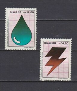 S19228) Brasil Brazil 1987 MNH New Saving Energy 2v