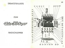 Ersatzteilliste Zetor 50 Super CSSR Ersatzteile