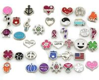 Wholesale 50 x 100 x Lots Mix Floating Charms for Glass Living Memory Lockets