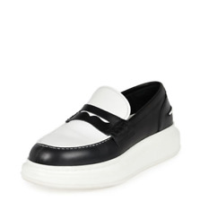 Alexander McQueen Platform Loafers 40 Black White Italy sneakers mcq backpack