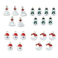 Hotsale Christmas Tree/Snowman/Santa Claus/Moon Enamel Beads Pendant DIY Jewelry