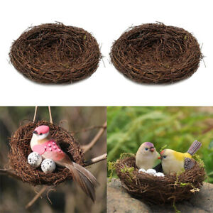 2pcs Handmade Bird Nest Birdhouse Small