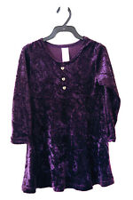 CHILDS VINTAGE KIDS OWN PURPLE CRUSHED VELVET DRESS  1990s  Age 5 YEARS