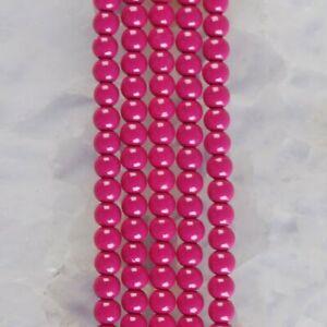 "HP1266-b 4mm Baked Porcelain Glass Ball Loose beads 16"""