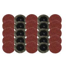 100Pcs 2 Inch R Type Sanding Discs 36 Grit Coarse Roloc Lock Surface Polishing