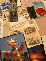 200 Lot Ephemera Vintage Photos Pictures Old Paper Ads Postcards Stamps Covers